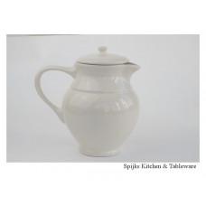 Melkkan met deksel beige inhoud ca 1 liter