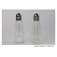 Peper en zout stel glas en metaal