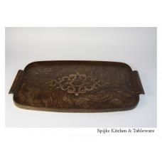 Mooi antiek/oud houten dienblad